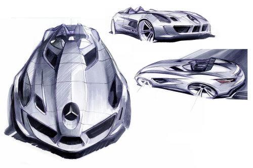 Mercedes-Benz SLR Sterling Moss in der Designgrafik (Abbildung: Mercedes-Benz)
