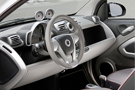 Not the interior of a showcar, its real in the smart edition highstyle (Image: smart)