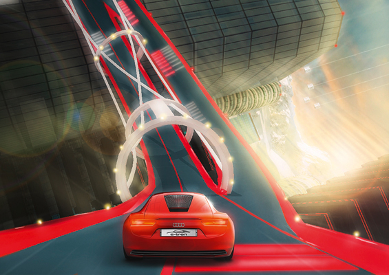 Gamers first: Virtual test drive with Audi's e-tron will be avaiable at Play Station Home for PS3 Users (Image: Audi)