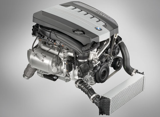 & Cylinder Diesel engine of BMW 5 series (Phpto: BMW)