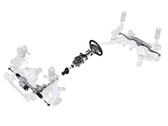 Integral Active Steering of the new BMW 5 Series (Photo: BMW)