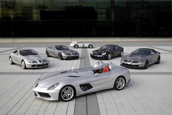 Mercedes-Benz SLR McLaren Stirling Moss, 300 SLR, SLR Coupé, SLR 722 Edition, SLR Roadster, SLR Roadster 722 S (Image: Daimler)