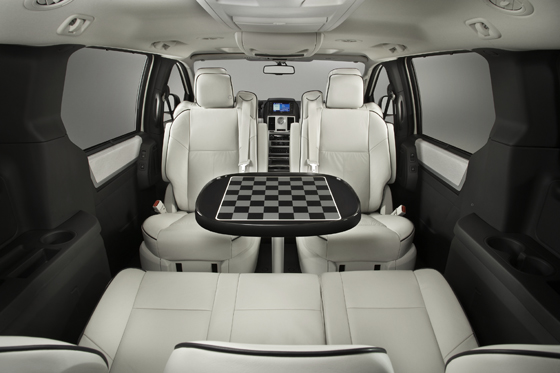 You could play some chess in the car (Image: Chrysler)