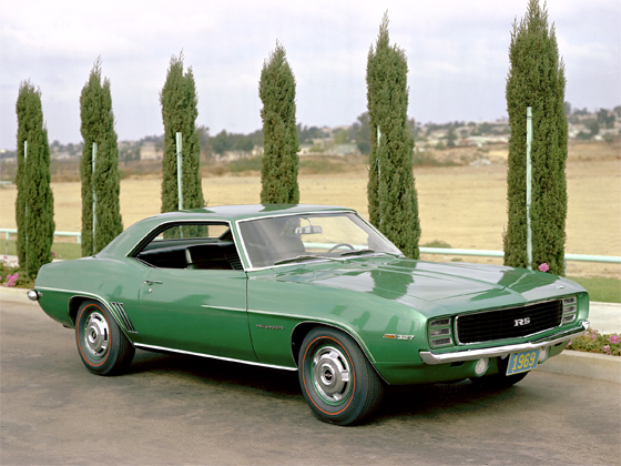 1969 Camaro RS in Rallye Green - one of the most sought-after and collectible Camaros (Image: GM)